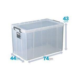フタ付き収納ボックス/プラスチックケース 【幅44cm×高さ43cm】 クリアタイプ 『ROX ロックス』 日本製