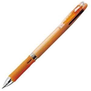 (業務用100セット) ZEBRA ゼブラ 多色ボールペン クリップオンスリム 【3色/0.7mm】 スリムタイプ B3A5-WOR 橙