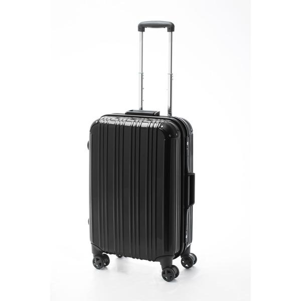 ツートンカラー スーツケース/キャリーバッグ 【Mサイズ ブラック/ブラック】 52L 『アクタス』【代引不可】