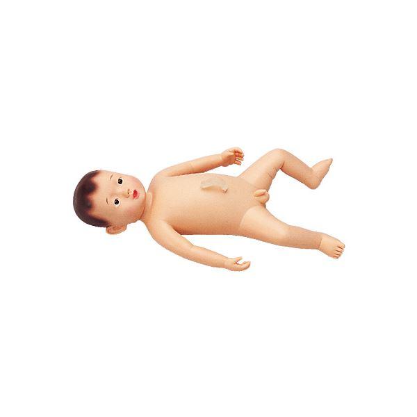 沐浴人形/看護実習モデル人形 【男/護くん】 軟質塩化ビニール製 産着/臍帯付き M-107-1【代引不可】