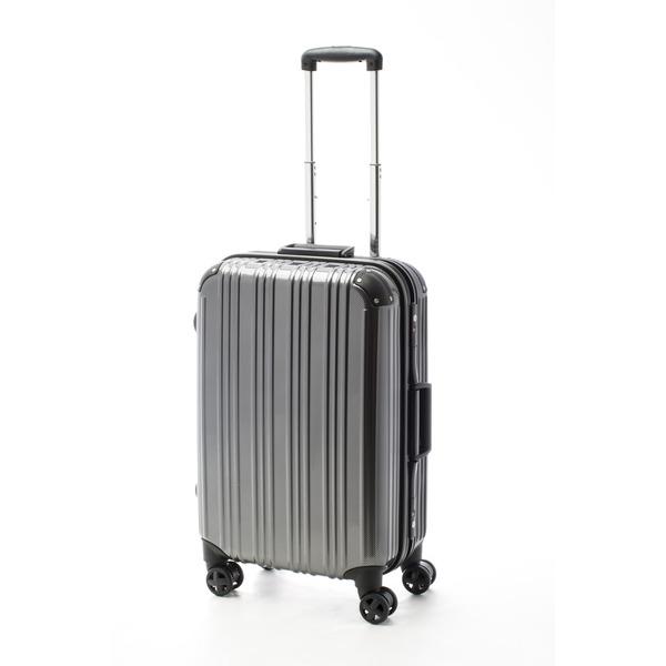ツートンカラー スーツケース/キャリーバッグ 【Mサイズ カーボンブラック/ブラック】 52L 『アクタス』【代引不可】