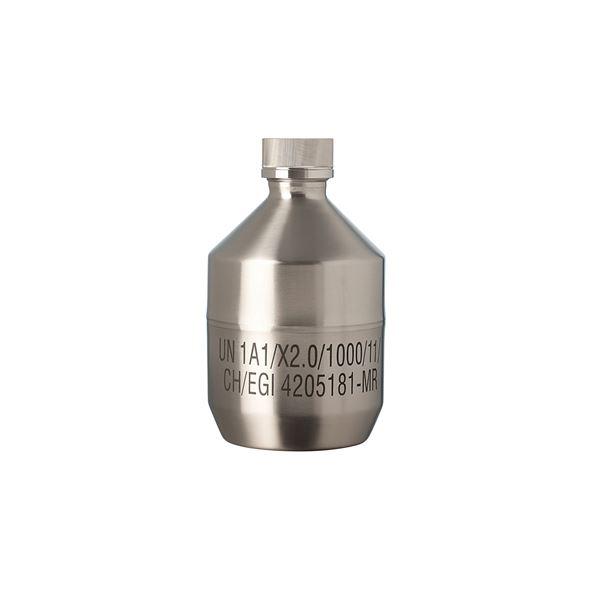 【柴田科学】ステンレススチールボトル キャップ付(UN規格) 1.5L 017200-1501