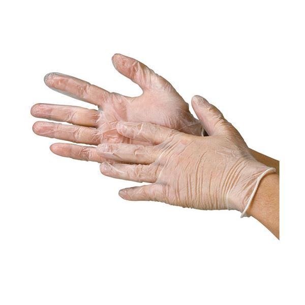 川西工業 ビニール極薄手袋 粉つき S 20袋