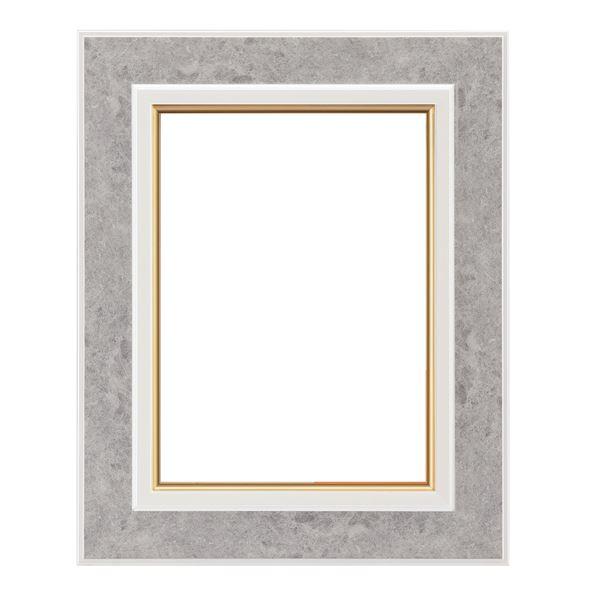 軽量 油絵額物/油額 【P8 ホワイト】 表面カバー:アクリル 『まじかるフレーム』