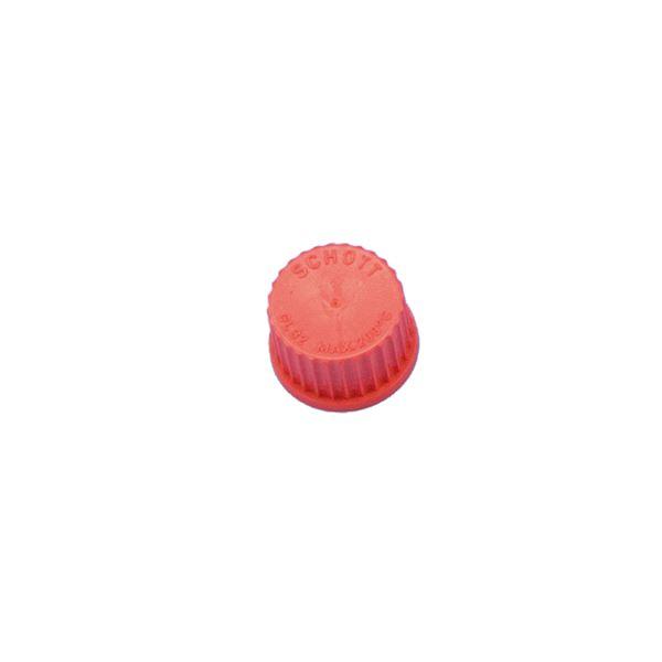 【柴田科学】ねじ口びん赤キャップ GL-32【10個】 017200-322A