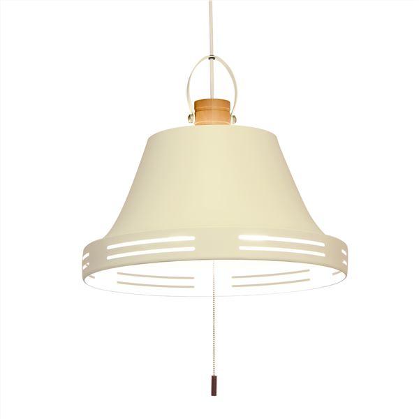 ペンダントライト/照明器具 【3灯】 スチール×天然木 ELUX(エルックス) Wood bell オフホワイト(白) 【電球別売】【代引不可】