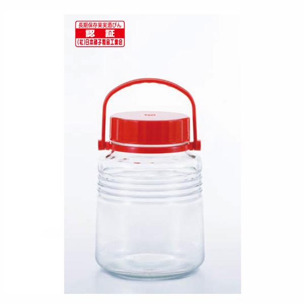 貯蔵瓶A型3L(4号) レッド 18個【×18個】