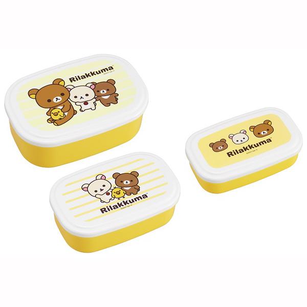 リラックマ シール容器3Pセット 【× 5個】
