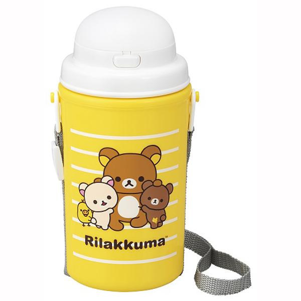 リラックマ ストロー付き水筒(保冷タイプ) 【× 5個】