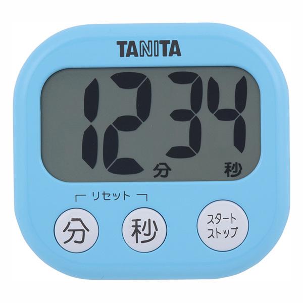 送料無料 デジタルタイマー 市場 でか見えタイマー TD-384 アクアミントブルー 限定特価