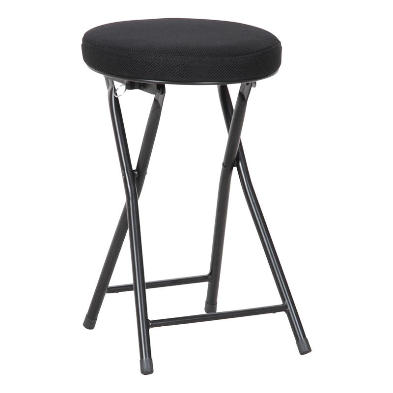 送料無料 6脚セット メッシュフォールディングチェアー スツール ラウンドスツール 折りたたみ 折り畳み パイプ椅子 椅子 チェア パイプイス 腰掛け いす イス 丸椅子 玄関 キッチン 台所 リビング オフィス 会議 簡易 おしゃれ シンプル