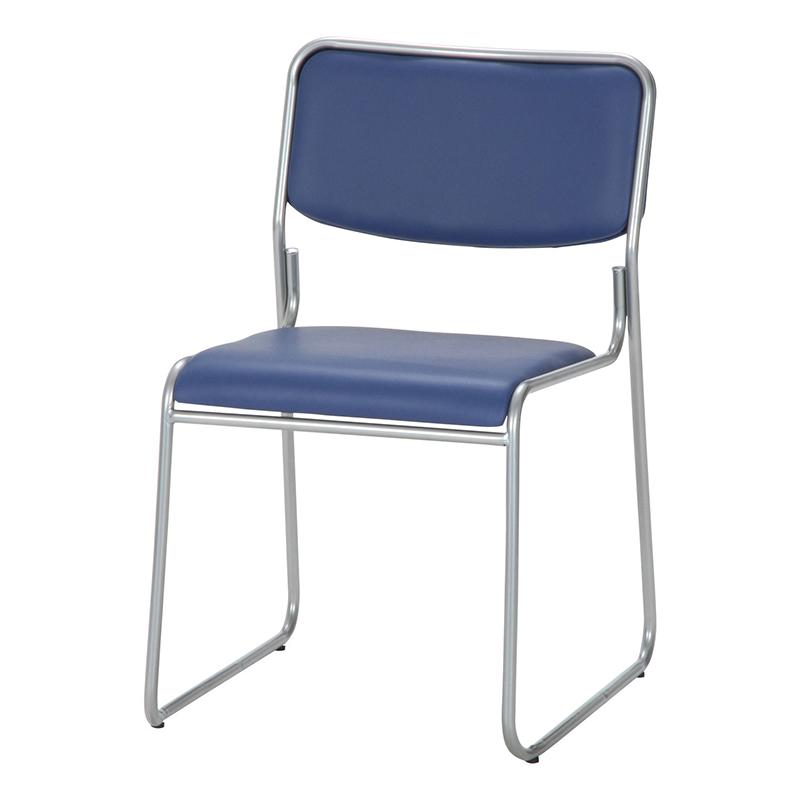 送料無料 4脚セット ミーティングチェアー 椅子 チェア チェアー スタッキング パイプイス パイプ椅子 腰掛け いす イス玄関 キッチン 台所 リビング オフィス 会議 簡易 おしゃれ シンプル ブルー