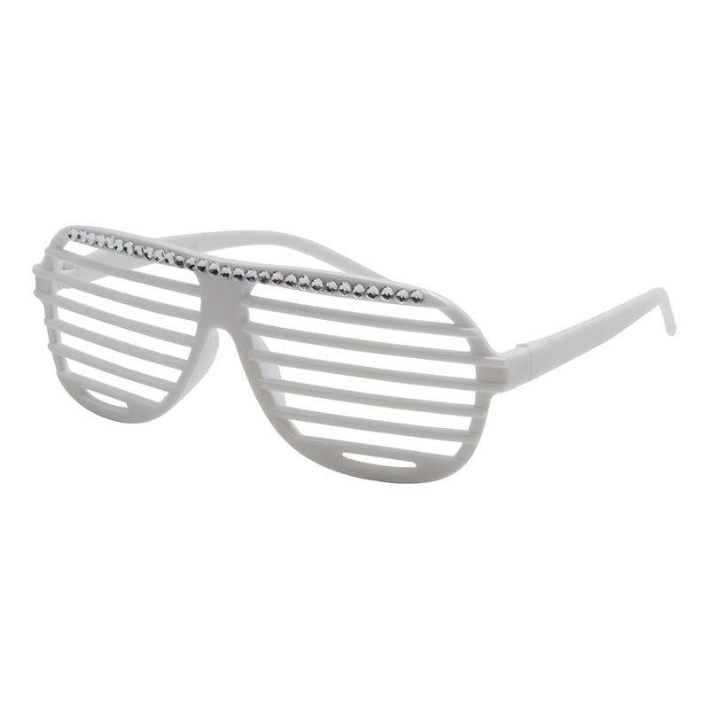 送料無料 パーティーメガネ ボーダー ホワイト ファッション  コレクション イベントグッズ メガネ 仮装 パーティー おもしろメガネ おもしろ眼鏡 ハロウィン