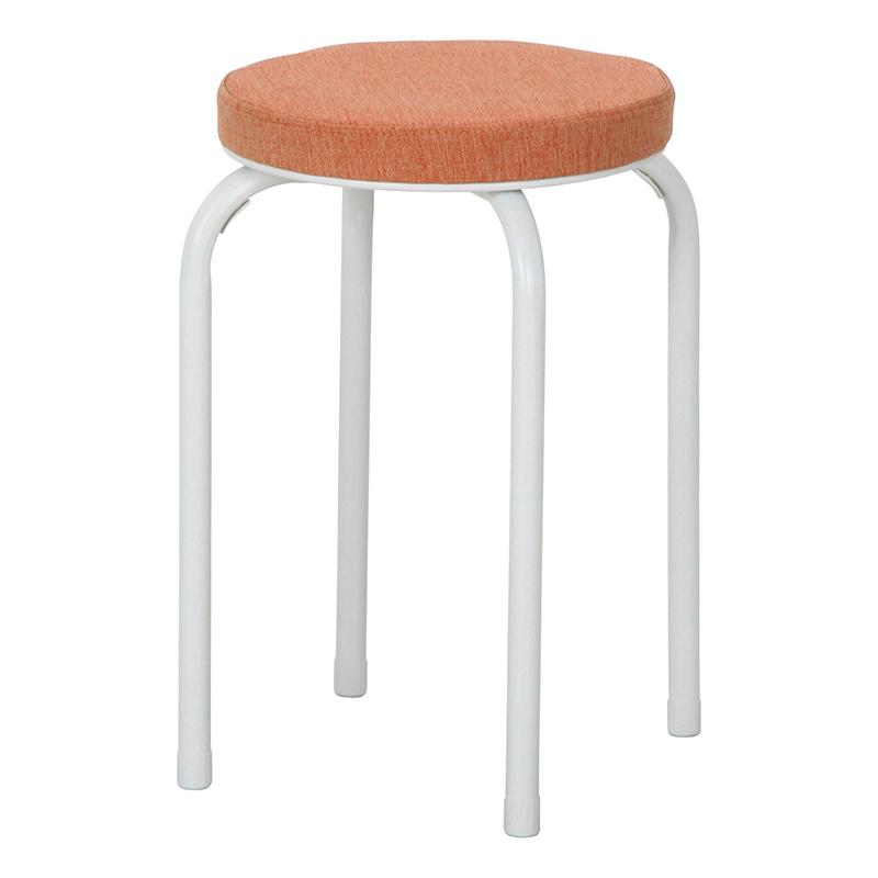 送料無料 6脚セット ファブリックスツール ミーティングチェアー 椅子 チェア チェアー スタッキング パイプイス パイプ椅子 腰掛け いす イス玄関 キッチン 台所 リビング オフィス 会議 簡易 おしゃれ シンプル オレンジ