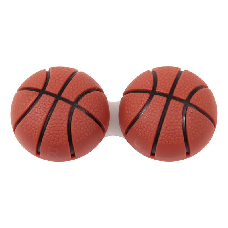 送料無料 12個入り コンタクトケース バスケットボール レンズケース コンパクト 携帯 コンタクトレンズケース トラベル おしゃれ かわいい
