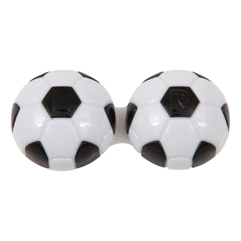 送料無料 12個入り コンタクトケース サッカーボール レンズケース コンパクト 携帯 コンタクトレンズケース トラベル おしゃれ かわいい