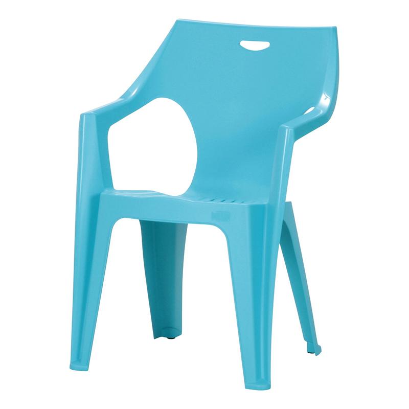 送料無料 4脚セット チェア ガーデンチェアー PCチェアー 肘付き アンジェロ プールサイド いす 椅子 イス ダイニングチェアー リゾート 庭 屋外 野外 アウトドア カフェ アジアン モダン シンプル おしゃれ かわいい ライトブルー