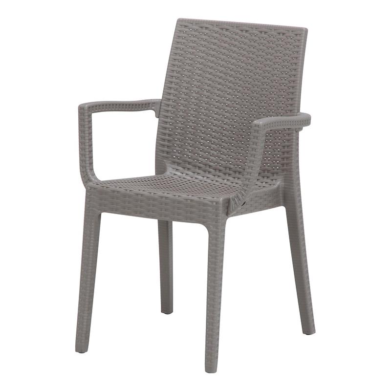 送料無料 2脚セット イタリア製 チェア 肘付き 肘掛け付き ガーデンチェアー ステラ チェアー プールサイド いす 椅子 イス リゾート 庭 屋外 野外 アウトドア カフェ アジアン モダン シンプル グレー おしゃれ かわいい