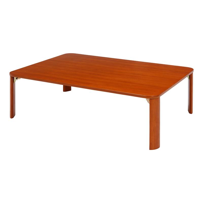 送料無料 折脚ローテーブル 105×75cm リビングテーブル 折り畳み 折りたたみ センターテーブル カフェテーブル 机 作業台 ワークテーブル 卓座 木製 コンパクト 省スペース 北欧 モダン シンプル おしゃれ かわいい ブラウン