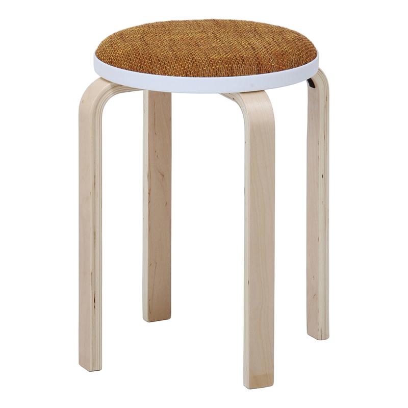 送料無料 6脚セット ファブリック曲木スタッキングスツール イス 椅子 いす チェアー チェア 腰掛け 木製 会議室 リビング キッチン オフィス シンプル モダン コンパクト おしゃれ かわいい 北欧 イエロー