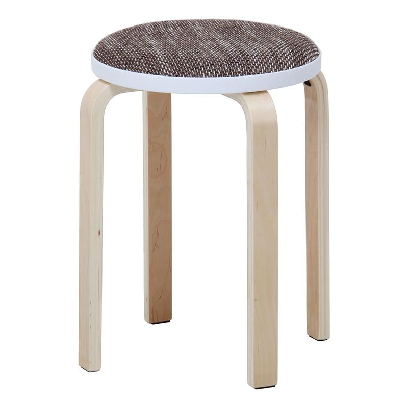 送料無料 6脚セット ファブリック曲木スタッキングスツール イス 椅子 いす チェアー チェア 腰掛け 木製 会議室 リビング キッチン オフィス シンプル モダン コンパクト おしゃれ かわいい 北欧 ベージュ
