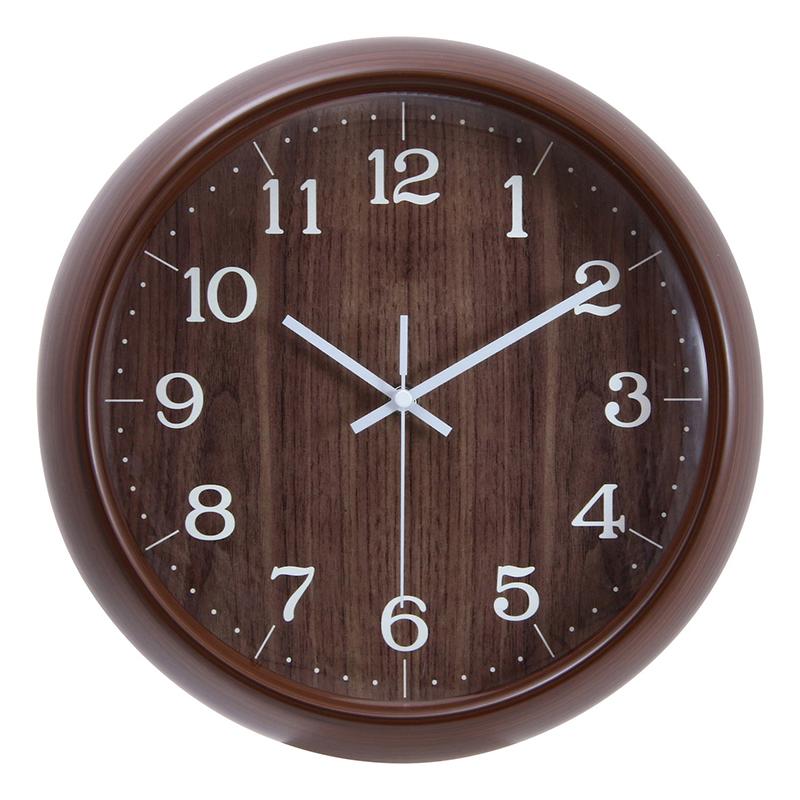送料無料 6個セット 掛時計 アンリ Φ30cm ブラウン 掛時計 掛け時計 壁掛け ウォールクロック 壁掛け時計 シンプル モダン おしゃれ