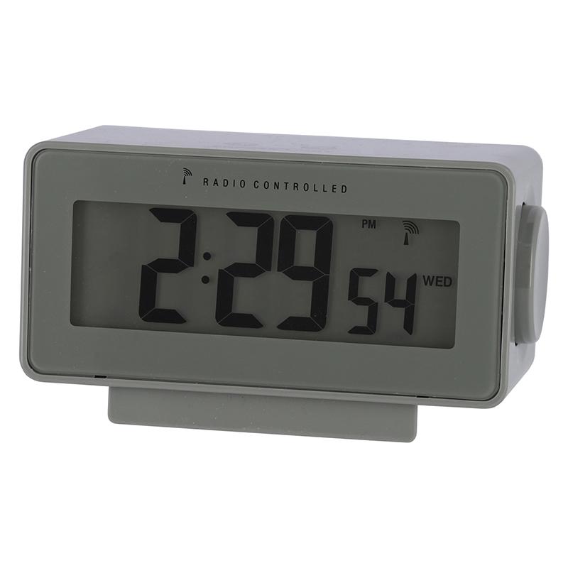 送料無料 6個セット 電波置時計ラルト グリーン 時間 日付 アラーム スヌーズ 温度 湿度 バックライト 置き時計 クロック 時計 シンプル モダン おしゃれ