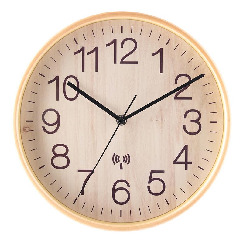 送料無料 3個セット 電波掛時計 プライウッド Φ28cm ナチュラル 掛け時計 壁掛け ウォールクロック 壁掛け時計 シンプル モダン おしゃれ