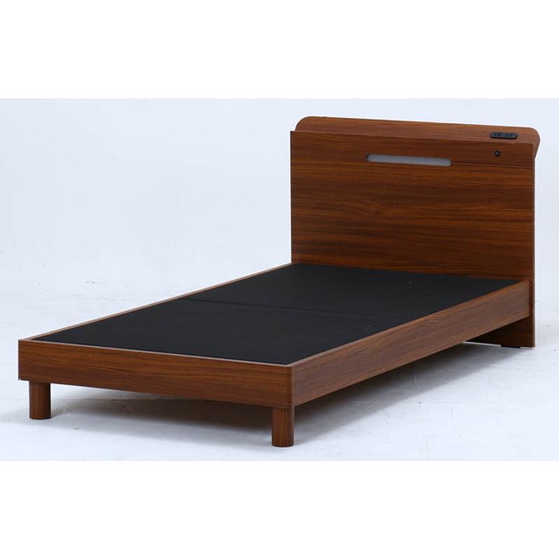 [C/D:32827] 木製ベッドフェルプス宮・LEDライト付SD-1658 SD