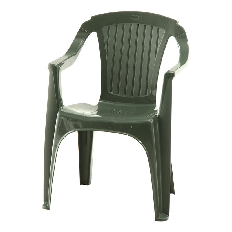 送料無料 4脚セット PCチェアー ガーデンチェアー イタリア製 いす 椅子 イス パソコンチェアー ダイニングチェアー スタッキング ベローナ シンプル 北欧 おしゃれ かわいい グリーン