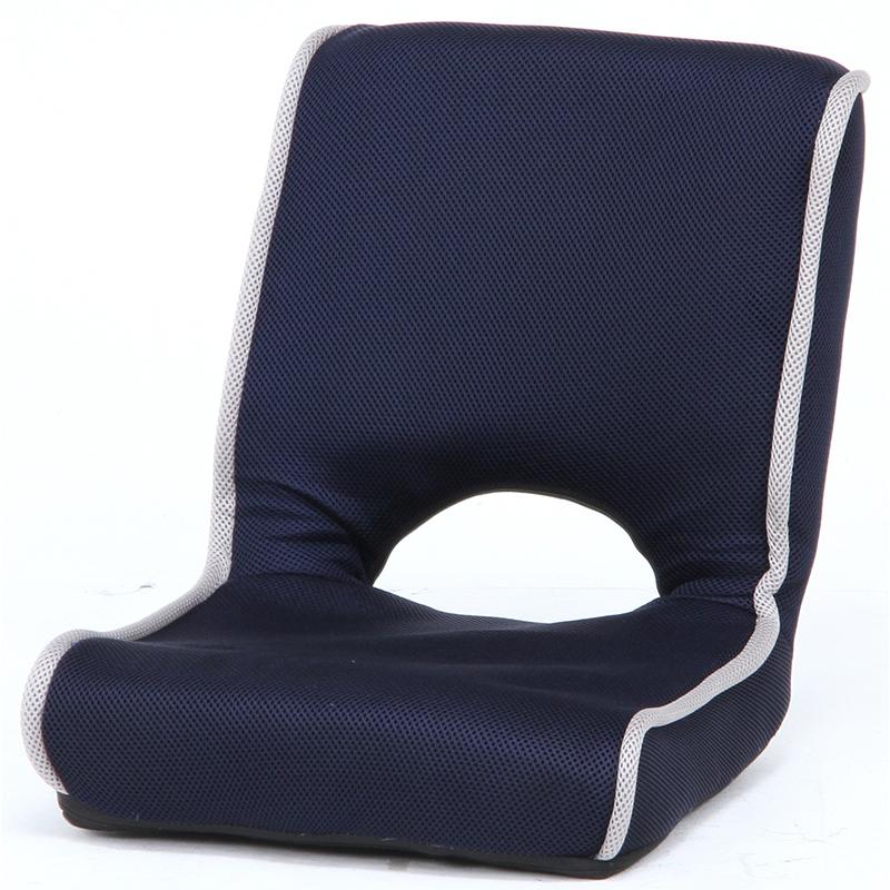 送料無料 4個入り 低反発座椅子 1人掛け 座椅子 コンパクト 折りたたみ 折り畳み ショコラ メッシュ フロアチェア リビングチェア 椅子 座イス チェア シンプル 北欧 モダン かわいい ネイビー