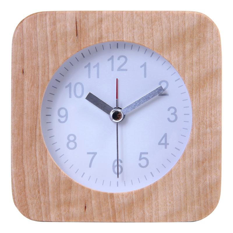 送料無料 6個セット 置時計 ウッド スクエア ホワイト 置き時計 クロック 時計 シンプル モダン おしゃれ