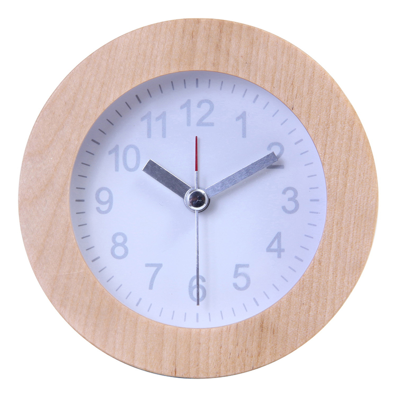送料無料 6個セット 置時計 ウッド ラウンド ホワイト 置き時計 クロック 時計 シンプル モダン おしゃれ