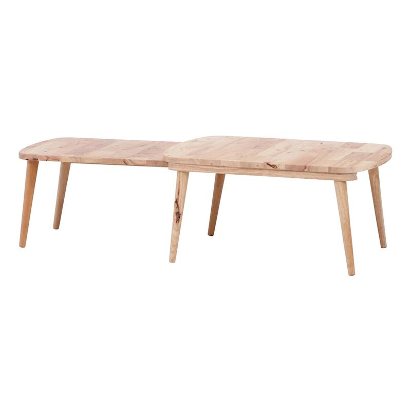 送料無料 Natural Signature センターテーブル SLIDE 伸縮 伸長 ローテーブル 木製 リビングテーブル カフェテーブル 作業台 シンプル モダン おしゃれ 西海岸 男前インテリア 北欧
