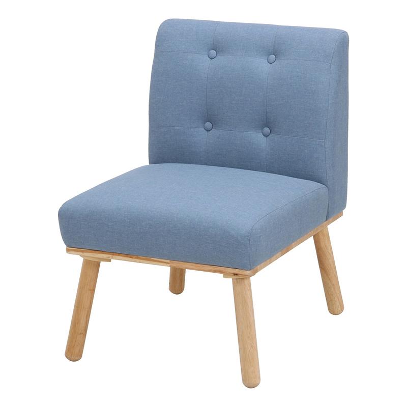 送料無料 ダイニングソファ 1人掛け コンパクト ソファ ソファー 1人がけ ロースタイル ダイニングチェアー いす 椅子 チェア 北欧 モダン シンプル おしゃれ ブルー
