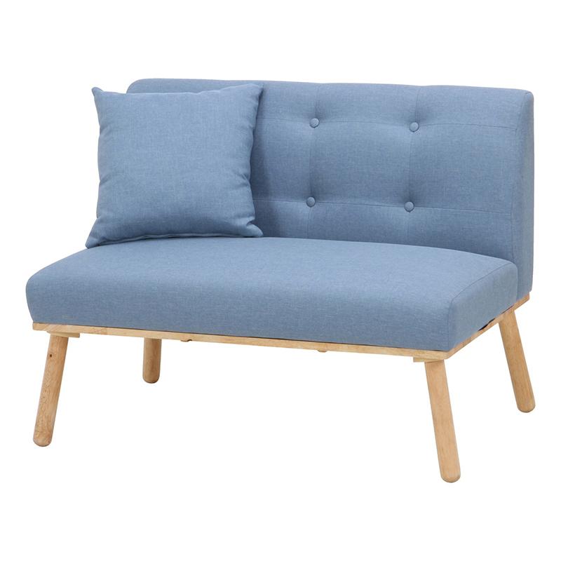 送料無料 ダイニングソファ 2人掛け コンパクト ソファ ソファー 2人がけ ロースタイル ダイニングチェアー いす 椅子 チェア 北欧 モダン シンプル おしゃれ ブルー