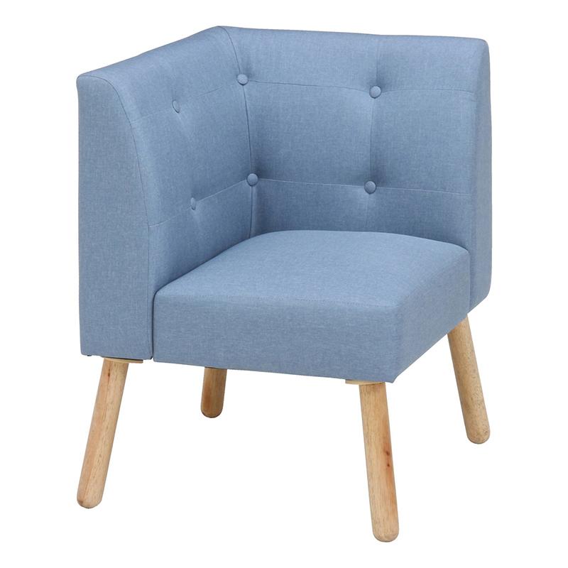 送料無料 コーナーソファー ダイニングソファ 1人掛け コンパクト ソファ ソファー 1人がけ ロースタイル ダイニングチェアー いす 椅子 チェア 北欧 モダン シンプル おしゃれ ブルー