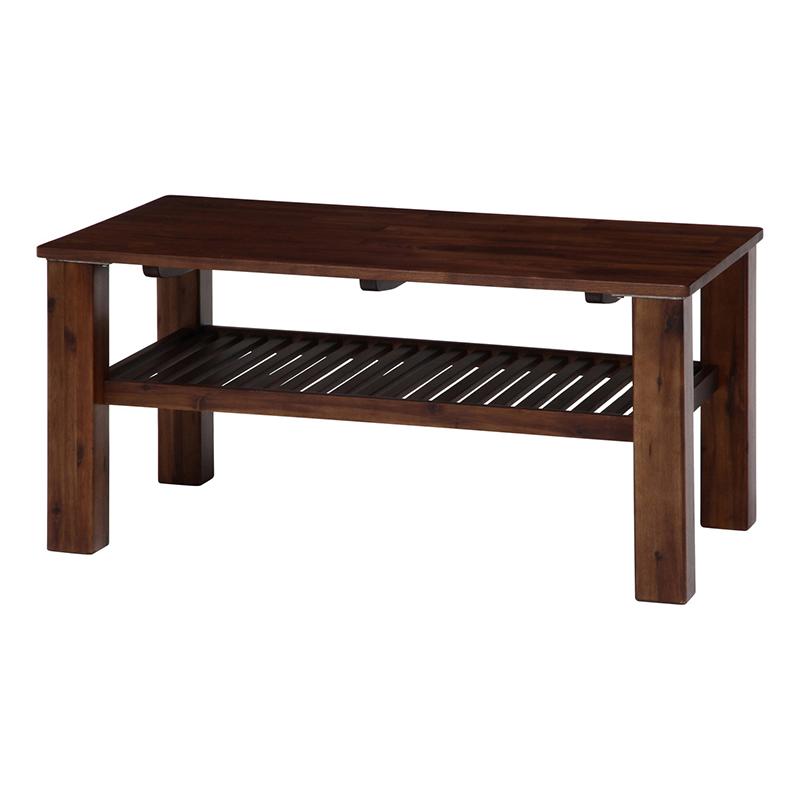 送料無料 センターテーブル リビングテーブル 幅105cm 長方形 木製 棚付き ローテーブル 机 カフェ風 モダン シンプル 北欧 おしゃれ かわいい