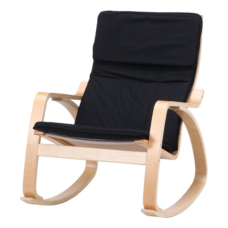 送料無料 ロッキングチェアー 木製 パーソナルチェア 一人掛け 1人掛け リラックス ロッキング ゆり椅子 肘付き ハイバック リビング シンプル 北欧 モダン かわいい おしゃれ ブラック