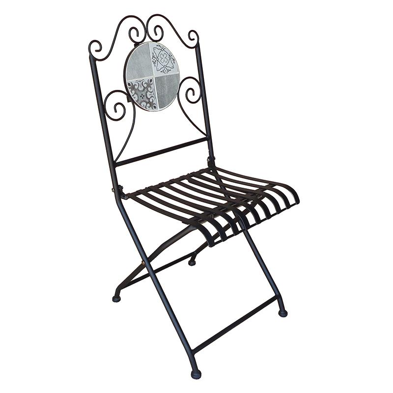 送料無料 2個入り ガーデンチェア モザイクチェアー ガーデン アジアン カフェ風 テラス ベランダ チェア アウトドア エクステリア キャンプ用品 ガーデンファニチャー ダイニングチェアー イス 椅子 いす おしゃれ
