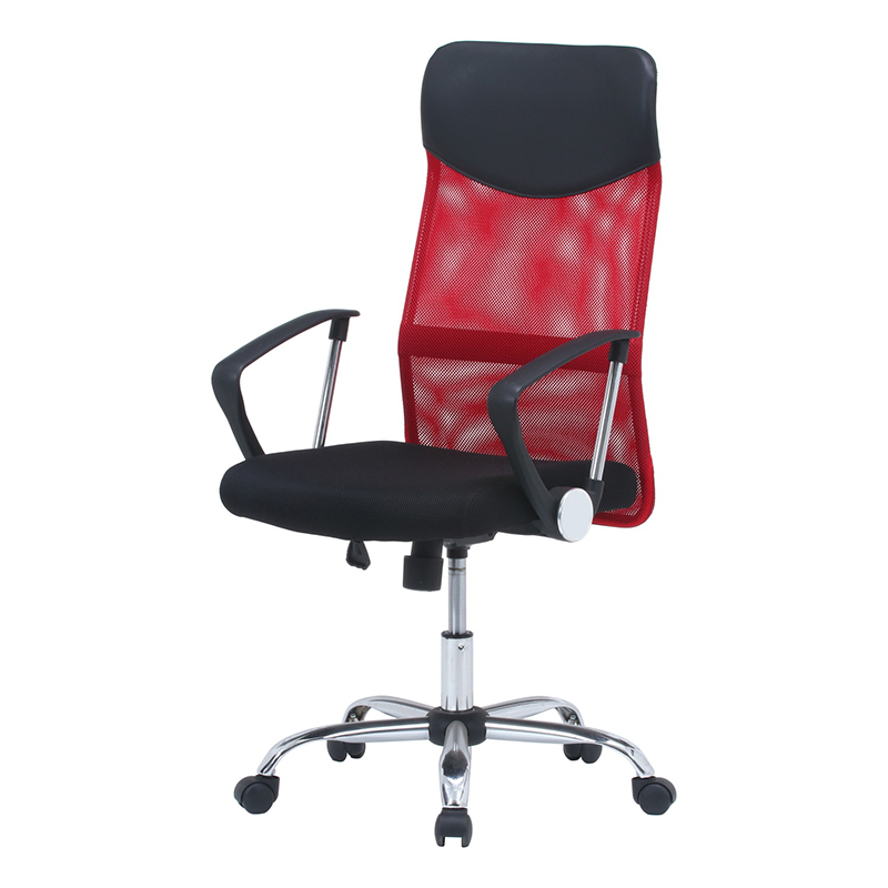 送料無料 メッシュバックチェア パソコンチェアー いす 椅子 イス オフィスチェアー ワークチェア 事務椅子 デスクチェア ワークチェア PCチェア OAチェア シンプル モダン おしゃれ レッド