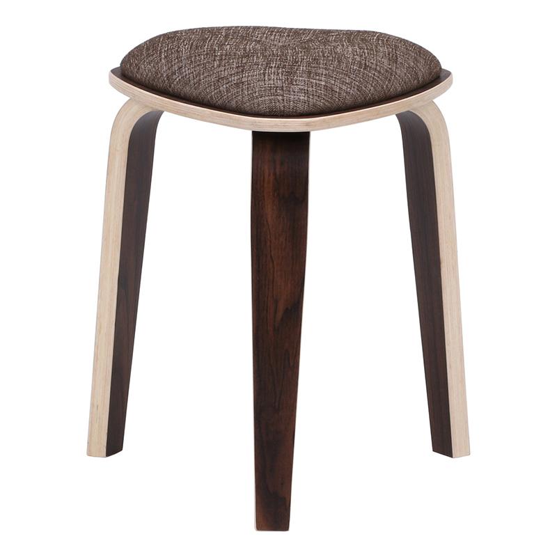 送料無料 4脚セット トライアングルスツール スツール イス 椅子 いす チェアー チェア 腰掛け 木製 会議室 リビング キッチン オフィス シンプル モダン コンパクト おしゃれ かわいい 北欧 ブラウン