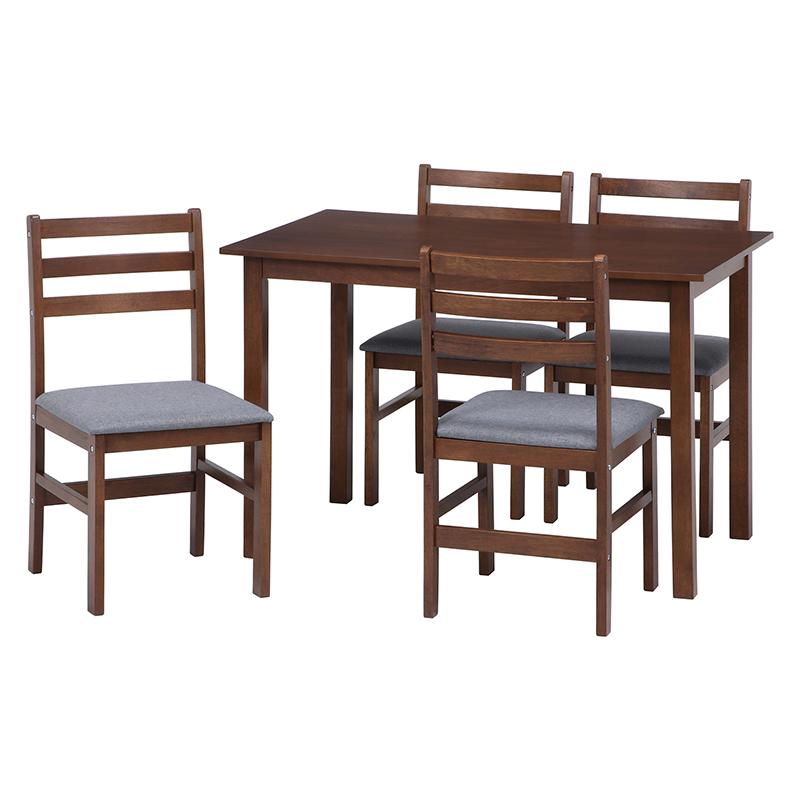 送料無料 ダイニングテーブル セット ダイニング5点セット リビング テーブル 椅子 いす 4人がけ 4人用 4人掛け コネクト 西海岸 ブルックリン 男前インテリア おしゃれ ブラウン