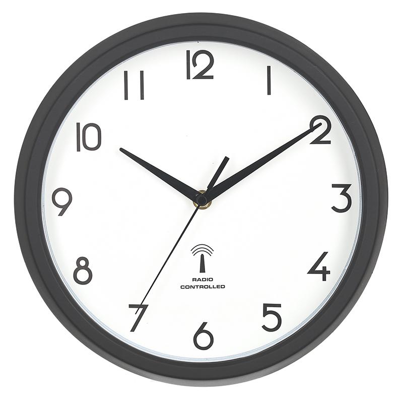 送料無料 3個セット 電波掛時計 カペラ Φ27cm ブラック 掛け時計 ウォールクロック かけ時計 壁掛け時計 壁掛け シンプル 北欧 モダン かわいい おしゃれ