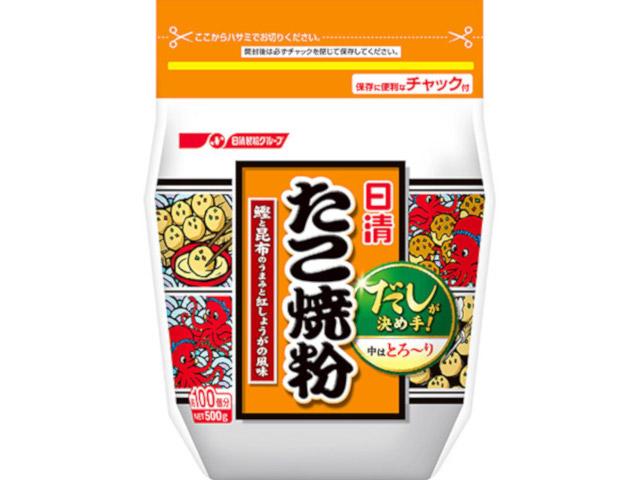 日清 ディスカウント たこ焼粉 送料無料 x12 500g