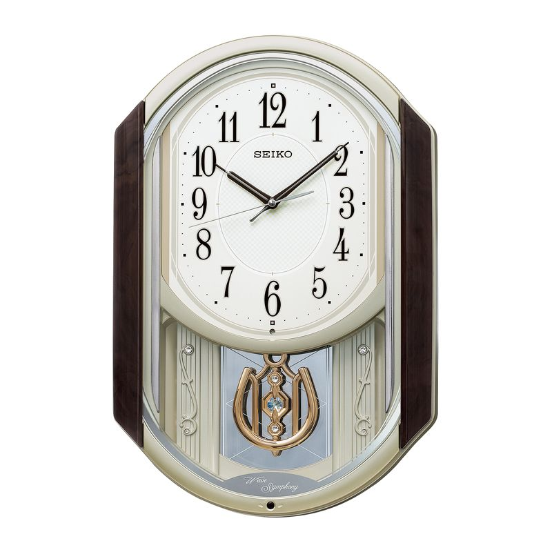 セイコー 振子付メロディ電波掛時計 AM264B