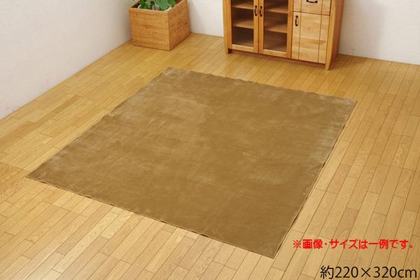 ラグ カーペット 4.5畳 洗える 無地 『イーズ』 約220×320cm 裏:すべりにくい加工 (ホットカーペット対応)