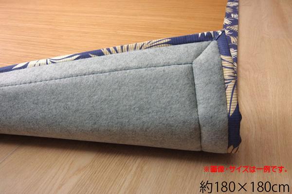バンブー 竹 ラグ カーペット 正方形 2畳 シンプル 『DXHパサール』 約180×180cm コンパクトタイプ (裏面:不織布)