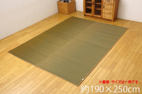 い草ラグ カーペット 3畳 国産 シンプル 『Fリブロ』 イエロー 約190×250cm(裏:ウレタン)
