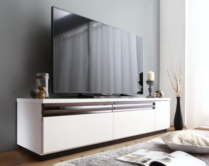 【送料無料】 テレビ台 幅150cm 国産 完成品 ローボード 60V型対応 デザインテレビボード Willy ウィリー テレビラック 木製 白 ホワイト ブラウン ナチュラル モダン 北欧